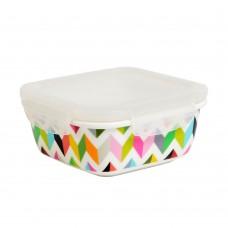600ml Porcelain Storage Bowl with Flat Lid(Rectangular)